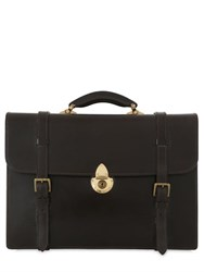 Ohba Bridle Leather Business Briefcase