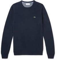 Lacoste Slim Fit Cotton Sweatshirt Navy
