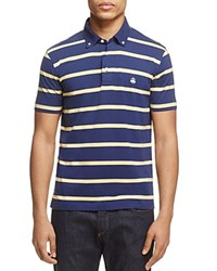 Brooks Brothers Stripe Slim Fit Polo Shirt Navy