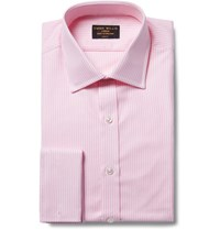 Emma Willis Pink Slim Fit Bengal Striped Cotton Oxford Shirt Pink