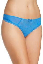 Free People Lacy Thong Blue