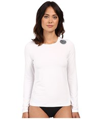 Rip Curl Whitewash Loose Fit Long Sleeve White Women's Swimwear