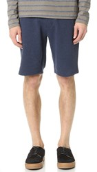 The Kooples Sport Natural Fleece Sweat Shorts Blue