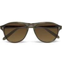 Cutler And Gross D Frame Acetate Sunglasses Brown