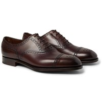 Edward Green Cadogan Burnished Leather Brogues Brown