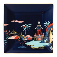 Wedgwood Wonderlust Square Tray Blue Pagoda