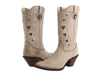 Durango Crush Heart Light Taupe Cowboy Boots