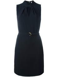 Michael Michael Kors Cut Out Detail Dress Blue