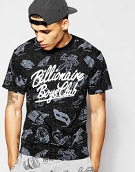 Billionaire Boys Club T Shirt With Galaxy Print Black