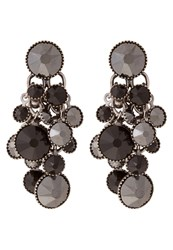 Konplott Dangling Waterfalls Earrings Black Antique Silvercoloured