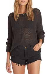 Billabong Women's Dance With Me Knit Sweater Off Black