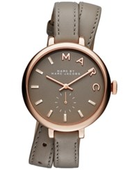 Marc Jacobs Women's Sally Taupe Double Wrap Leather Strap Watch 36Mm Mbm8661 Rose Gold