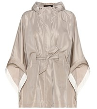 Loro Piana Judith Silk Blend Cape Grey