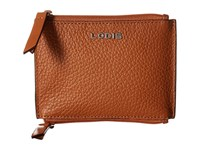Lodis Kate Frances Double Zip Pouch Toffee Wallet Handbags Brown
