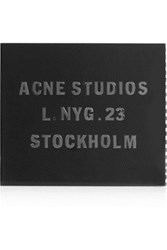 Acne Studios Akoya Snake Effect Leather And Perspex Box Clutch Black