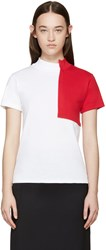 Jacquemus White And Red Square T Shirt