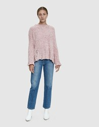 Which We Want Amanor Distressed Pullover Top In Mauve