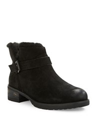 Elie Tahari Faux Fur Lined Ankle Boots Black