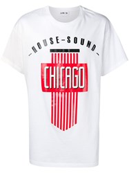 Amen Chicago Print T Shirt White
