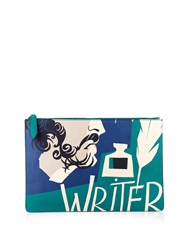 Burberry The Writer Print Leather Document Holder