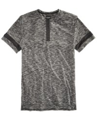Guess Men's Space Dyed Textured Polo Jet Black A996