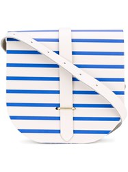 The Cambridge Satchel Company Striped Saddle Bag Women Calf Leather One Size White