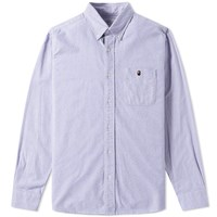 A Bathing Ape One Point Oxford Shirt Blue