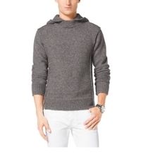 Michael Kors Hooded Wool Blend Sweater Concrete