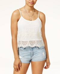 American Rag Juniors' Lace Overlay Tank Only At Macy's Cream
