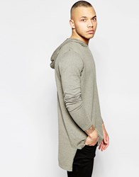 Asos Oversized Hoodie In Grey Cotton Green