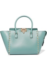 Valentino The Rockstud Leather Tote Blue