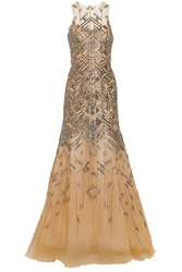 Lela Rose Beaded Tulle Gown