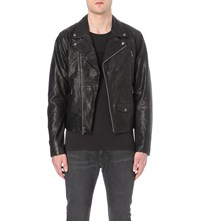 Levi's Moto Leather Biker Jacket 1784 Black X