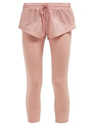 Adidas By Stella Mccartney Logo Print Leggings With Shorts Light Pink