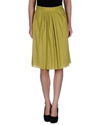 Soho De Luxe Knee Length Skirts Acid Green
