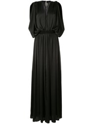 Maison Rabih Kayrouz Draped Evening Gown Black