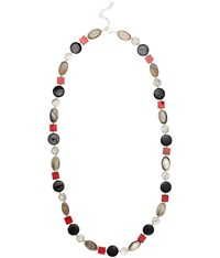 Cc Shell And Bead Long Necklace