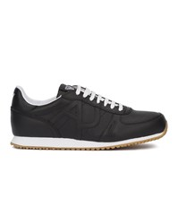 Armani Jeans Navy Blue Aj Leather Sneakers With Logo