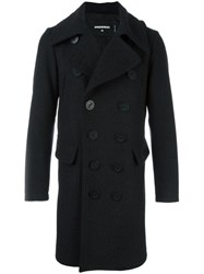 Dsquared2 Long Peacoat Black
