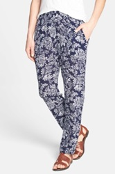 Ace Delivery Floral Print Pants Blue