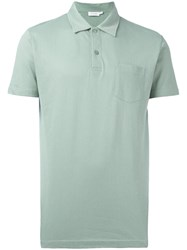 Sunspel Riviera Polo Shirt Green