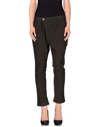 Manila Grace Casual Pants Dark Brown