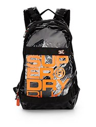 Superdry Mountain Graphic Logo Backpack Photo Black