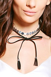 Boohoo Chain With Tassel Choker Silver