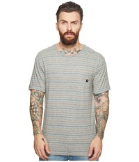 Vissla Flushed Short Sleeve Heathered Knit Pocket Top Grey Heather Clothing Gray