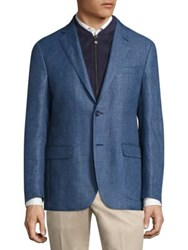 Corneliani Regular Fit Wool Jacket Dark Blue