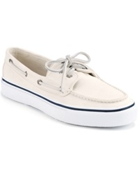 Sperry Men's Bahama 2 Eye Boat Sneakers Men's Shoes White