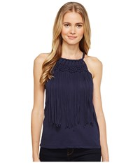 Ariat Fringe Tank Top Navy Eclipse Women's Sleeveless