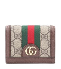 Gucci Ophidia Gg Leather Wallet Brown