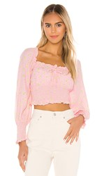 Faithfull The Brand Ella Top In Pink. Pink Luda Floral